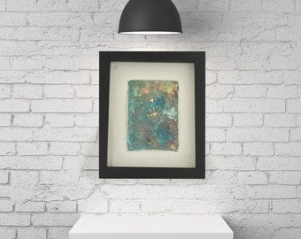 """ON SALE! 25% OFF original price! - Original Painting - """"Tranquility"""" - abstract acrylic - experimental - inventive techniques"""