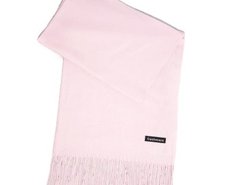 Ladies Super Soft Cashmere Luxury Feel Scarf/Shawl For Day To Evening Occasions (Pale Pink/Baby Pink)