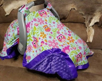 owl baby accessories carseat cover canopy blanket by shaysstore. Black Bedroom Furniture Sets. Home Design Ideas
