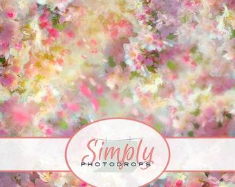 Vinyl Backdrop, SPRING CHERRY BLOSSOM , Photography Backdrop // Simply Photodrops Premium vinyl backdrop