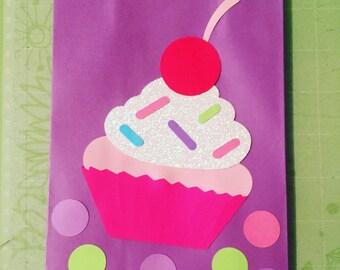 Cupcake Theme Favor Bags