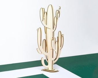 Wooden cactus / Ready-to-make - A gift made In France