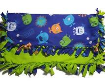 Fleece Blanket - Monster Blanket - Child Blanket - Monster - Tie Blanket - Knot Blanket - Gender Neutral - Tied Blanket - Blanket - Fleece