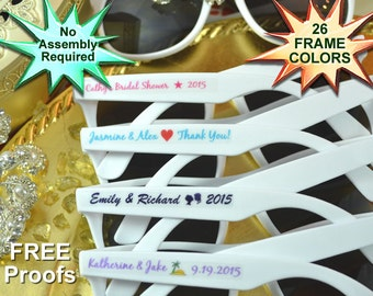 Wedding favors, wedding sunglasses, rustic country vintage wedding favors, bridal shower favors, custom personalized birthday sunglasses