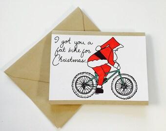 Santa stole my fat bike card