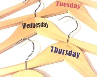 Wooden Monday through Friday Hangers
