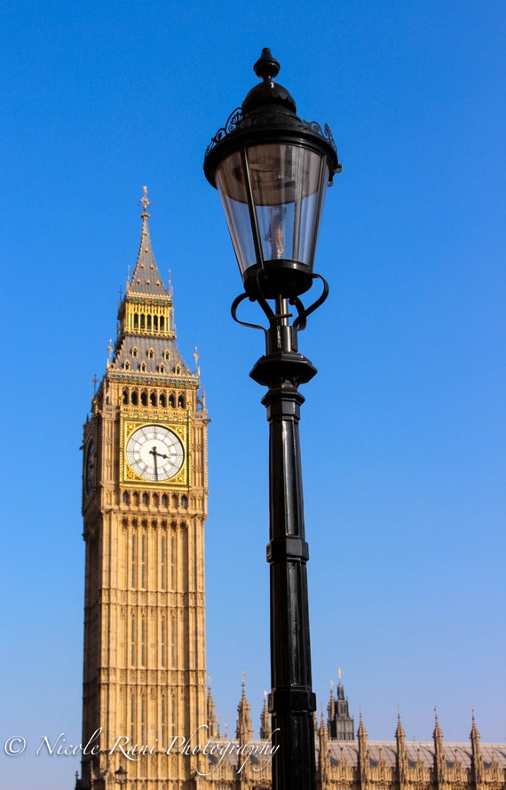 Big Ben Lamp Post Westminster London England