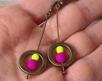Minimal fluorescent earrings