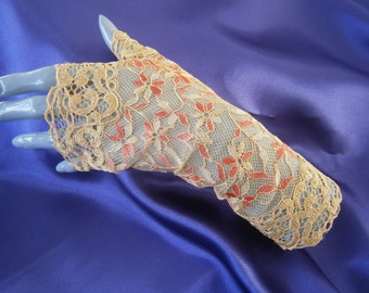 Clearance 30% evening lace fingerless gloves arm warmers wedding lace
