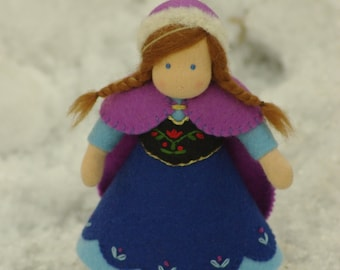 Frozen Waldorf Anna doll // Waldorf doll // Waldorf dollhouse doll // gift for girl