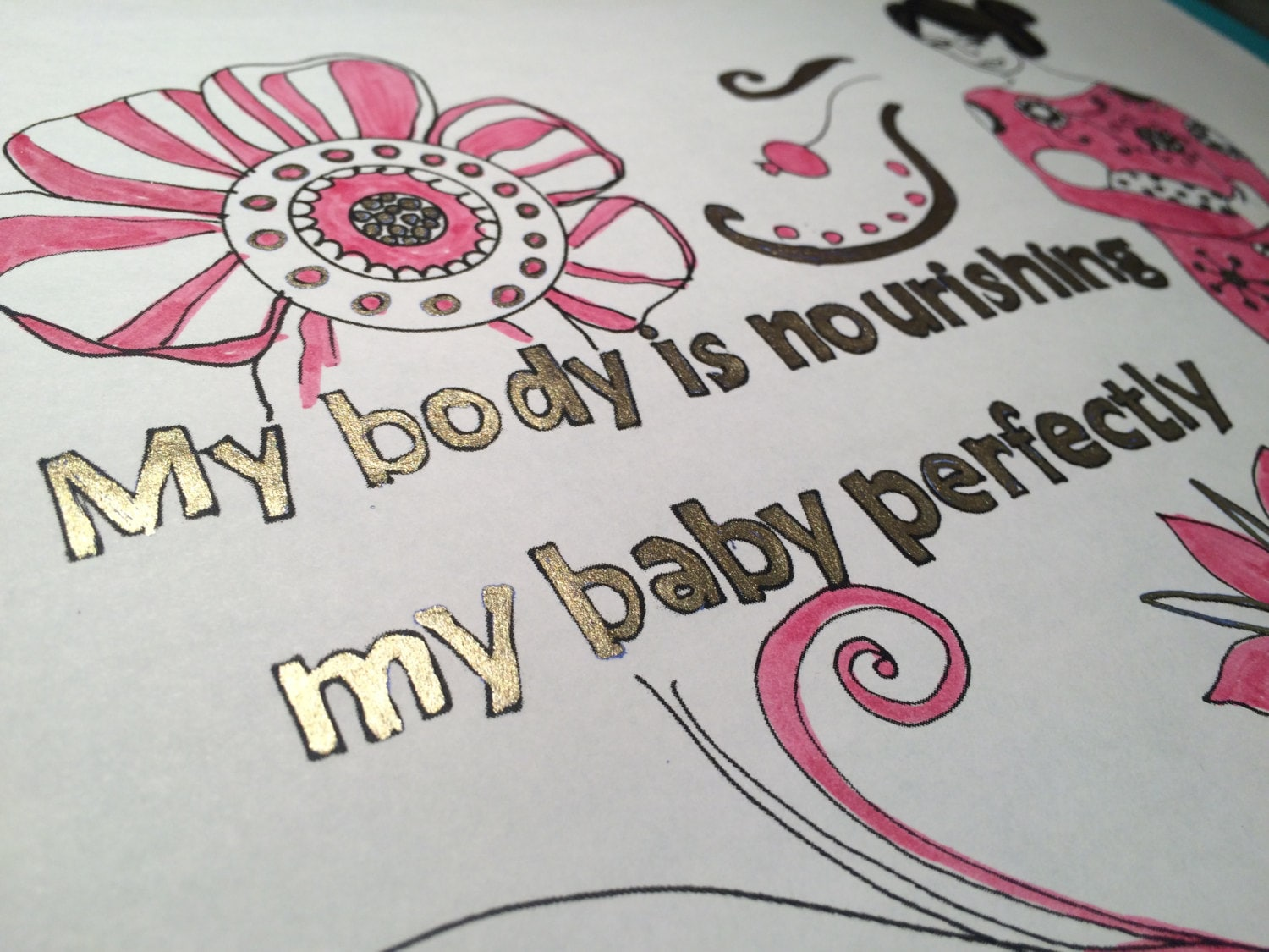 birth and breastfeeding affirmations coloring page