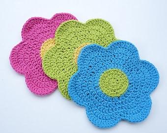 Flower Pretty Dishcloth (3 dishcloths)