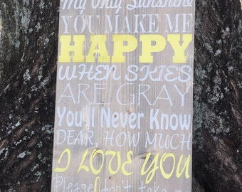 Wall Decor| Home Decor | Wood Signs | Hand Painted | Quote | You Are My Sunshine