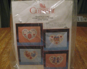 Counted Cross Stitch Kit, Current Hearth U0026 Home Note Cards Set Of 4,  Unopened