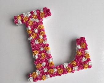 Large flower Initial L
