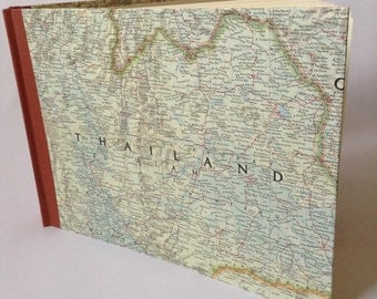 Map Photo Album Scrapbook Honeymoon album gift