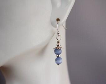 Lace Agate gemstone drop earrings
