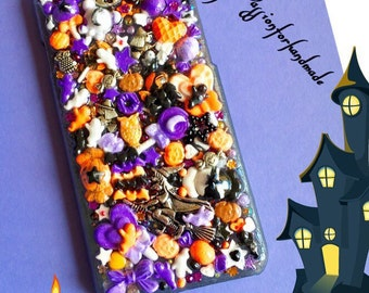 HALLOWEEN phone case, KAWAII  phone case, Halloween iPhone case, kawaii Samsung case, kawaii decoden case, Halloween bling phone cover