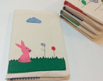 Fabric notebook, book and diary covers