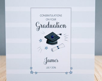 Personalised Congratulations on your Graduation Card