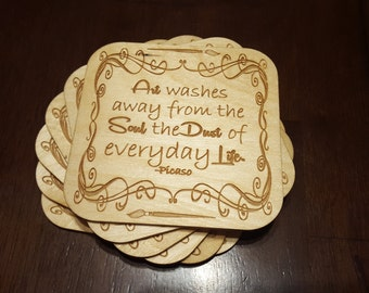 Coasters for Artists - Quotes by Painters