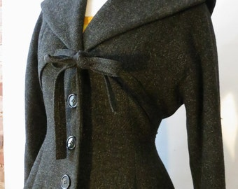 1950 s dress coat black