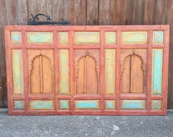 SALE-Rajasthan Arched Window Facade, Indian Architectural Wall Panel, Arched carved headboard
