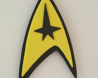 Star Trek fondant cake topper