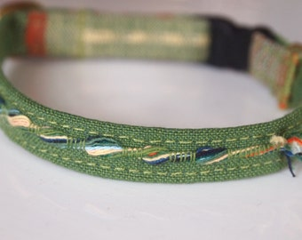 Green Breakaway Cat Collar-NEW