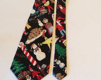 Vintage Nicole Miller Silk Tie 1997 Christmas Necktie New With Tags