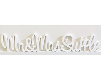 Mr & Mrs Wedding Sign Painted