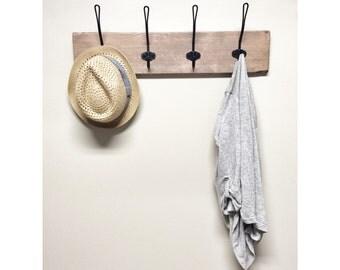 Rustique en bois entr e crochet porte manteau avec tag re for Porte manteau contemporain bois