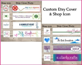Custom Etsy Cover Set - Custom Shop Icon - Custom Shop Banner - Custom Etsy Cover Photo - Custom Shop Set - OOAK Shop Banner - Graphics