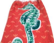 oven door kitchen towel seahorse beach dish towel summer hanging towel fall hanging dish towel crochet top dish towel holiday kitchen towel