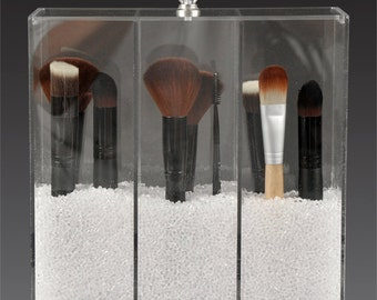 Makeup Brush Organizer With Crystal Pull Knobs GlamoureBox (A3)