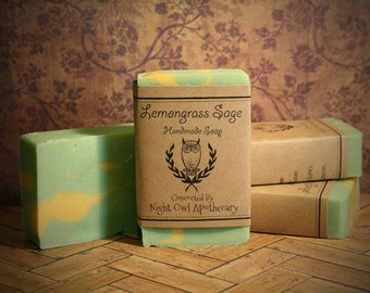 Lemongrass Sage Handmade Soap