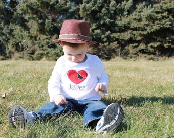 Pirate Heart Embroidered Valentine Day Tee
