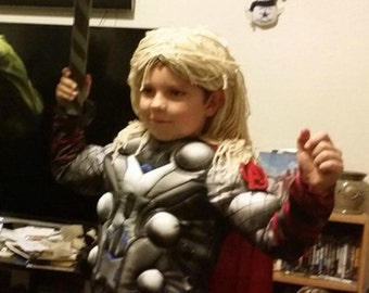 Thor hair wig,  Halloween, costume, Wig, Boy Halloween thor wig