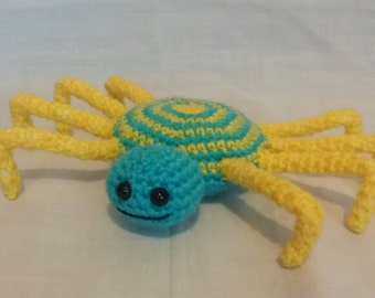 Crochet Colourful Spider - Spider Soft Toy - Crochet Spider - Spider Gifts - Handmade Spider - Insects - Children's Gifts - Boys Toys