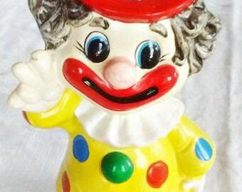 Vintage Clown Bank Circus Clown Collectible Piggy Bank