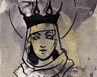 Crowned OOAK ACEO