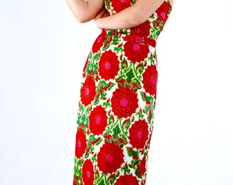 Awesome Vintage 70's Deadstock Psychedelic Summer Backless Maxi Sun Dress