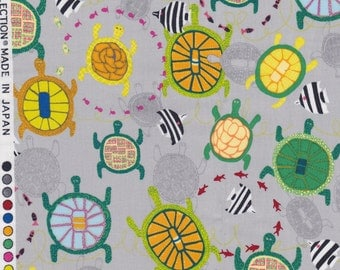 Yuwa Live Life Collection - Japanese Fabric - Quilting Cotton - Turtles