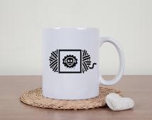 Yarn coffee mug, sheep yarn, wool yarn, novelty mug, funny mug, wool yarn, funny coffee cup, knitting, crochet, statement mug, fiber arts