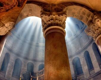 Holy Light, Jerusalem, Holy Sepulcher, Israel, Fine Art Digital Download, Travel Photography
