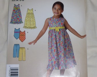 It's So Easy It's Simplicity Pattern #3860 Size A 3-8 Uncut and Unused