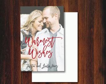 Warmest Wishes Custom Holiday Postcard