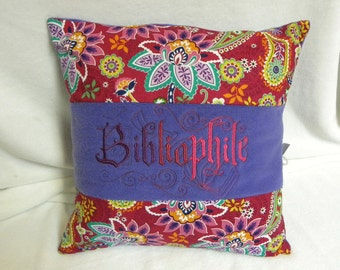 Bibliophile: Hand - Crafted Throw Pillow For Any Book Lover
