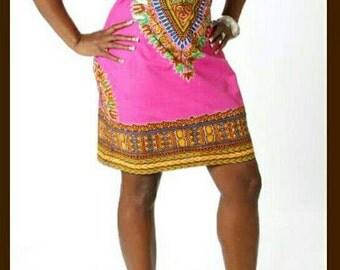 dashiki dress/african print dress