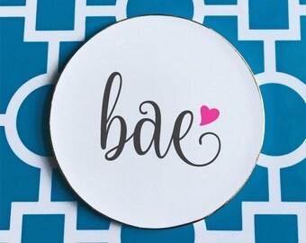 Bae ceramic coaster, bae gift, bae graphic coaster, kiln fired coaster  ***FREE SHIPPING